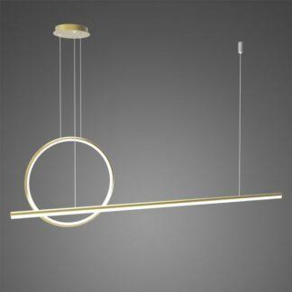 Złota lampa wisząca Linea No.2 - Φ40, 4000K, ściemnialna