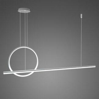 Nowoczesna lampa wisząca Linea No.2 - Φ40, srebrna, 4000K, ściemnialna