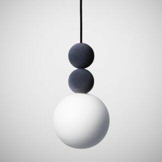 Lampa wisząca Bola Bola Velvet - 18cm, szara