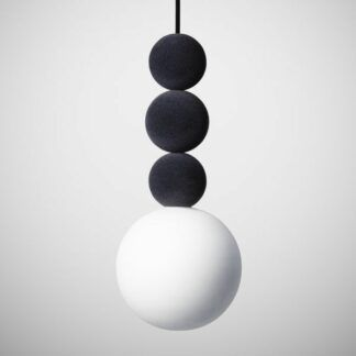Lampa wisząca Bola Bola Velvet - 28cm, antracyt
