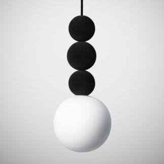 Lampa wisząca Bola Bola Velvet - 28cm, czarna