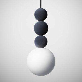 Lampa wisząca Bola Bola Velvet - 28cm, szara