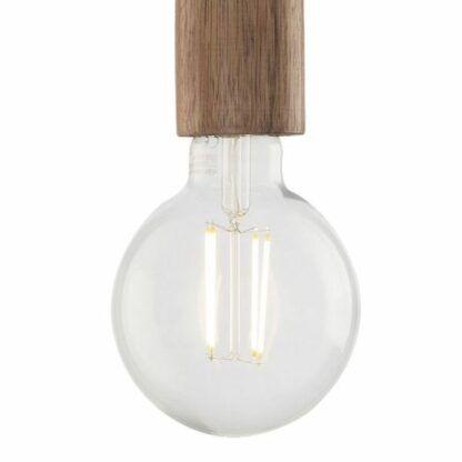 Lampa wisząca Ziva - złota, drewniany element