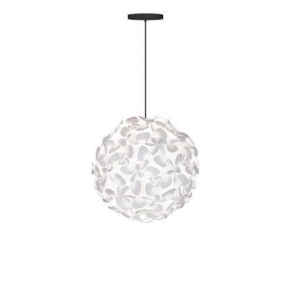 lampa wisząca, biała kula styl nowoczesny