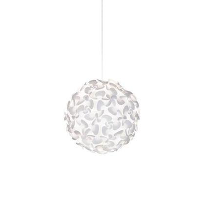 biała lampa wisząca, klosz kwiaty, motyle, pokój dziecięcy