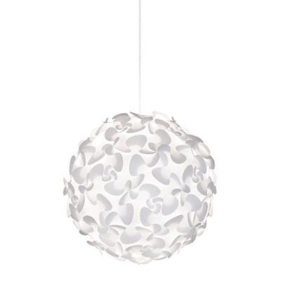 duża lampa wisząca, cała biała, nowoczesna