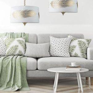 lampa wisząca w stylu modern classic - aranżacja salon