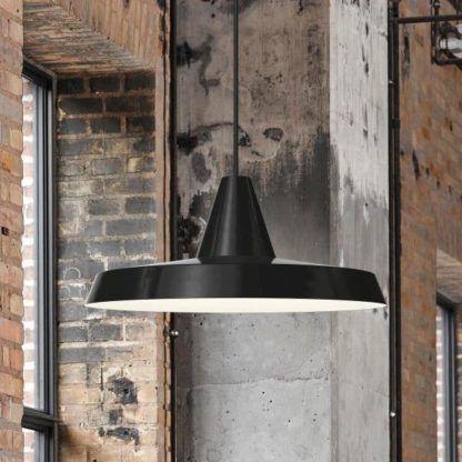 lampa wisząca, czarna, industrialna