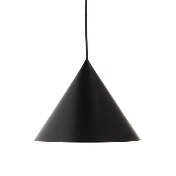 szara lampa wisząca, stożkowy klosz - kuchnia z mozaiką aranżacja