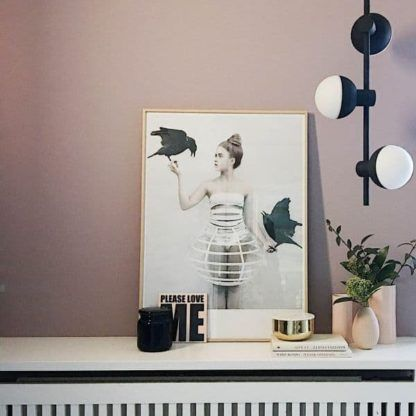 designerska lampa wisząca, pion - aranżacja, szklane klosze