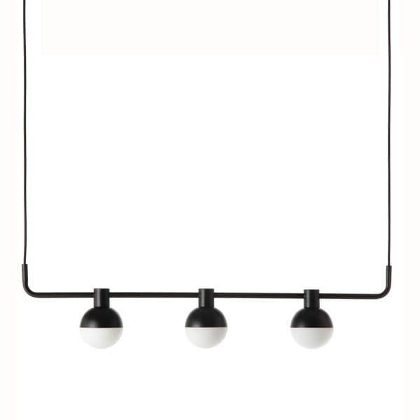 nowoczesna lampa wisząca nad stół - aranżacja
