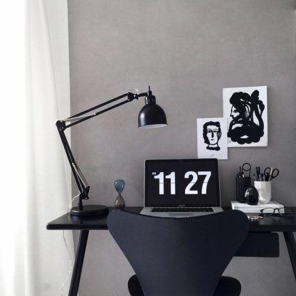 lampa biurkowa industrialna - aranżacja biurko, gabinet