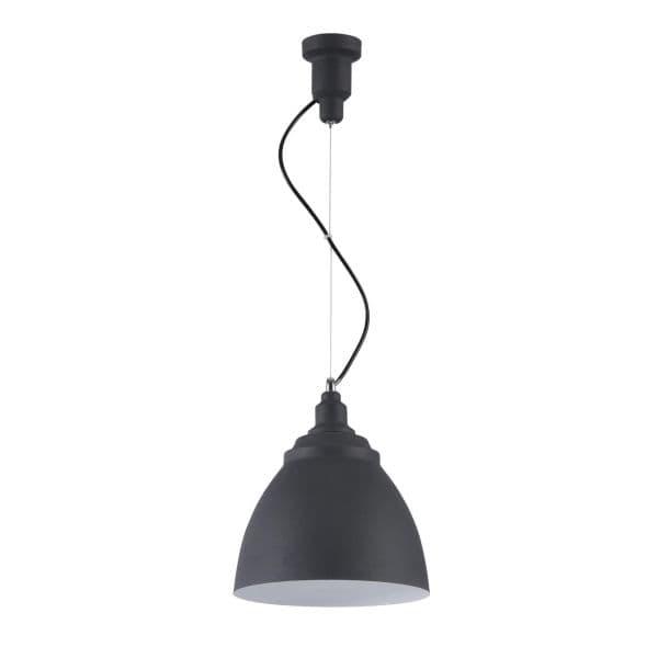 nowoczesna lampa wisząca, metalowa