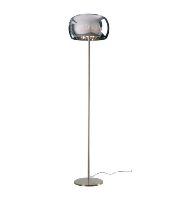 Lampa podłogowa - Crystal podłogowa - Zuma Line - szkło, kryształki