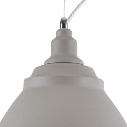 nowoczesna lampa wisząca z metalu, szara