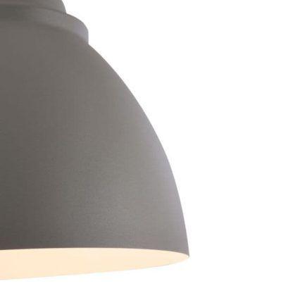 nowoczesna lampa wisząca z kloszem szarym