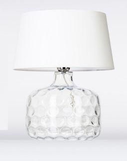 Niska lampa stołowa - Andorra 4concepts - biały abażur