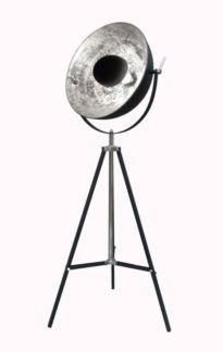 Lampa podłogowa Antenne Zuma Line - metal, czerń, srebro