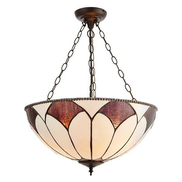 Lampa wisząca Aragon - Interiors - 3 żarówki - duży klosz