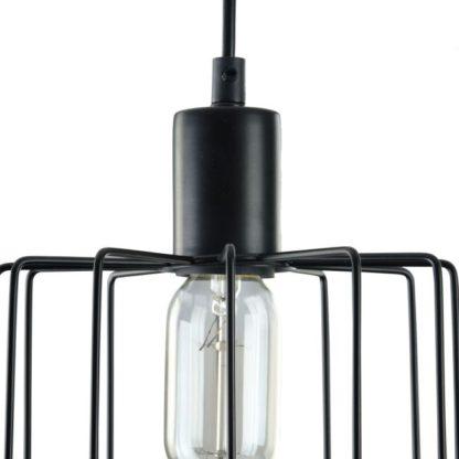 Ażurowa lampa wisząca Monza - Maytoni - czarne pręty