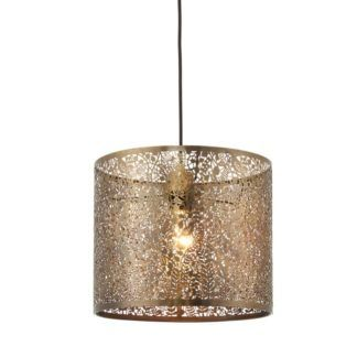 Ażurowa lampa wisząca - Secret Garden 30 - Endon Lighting - złota