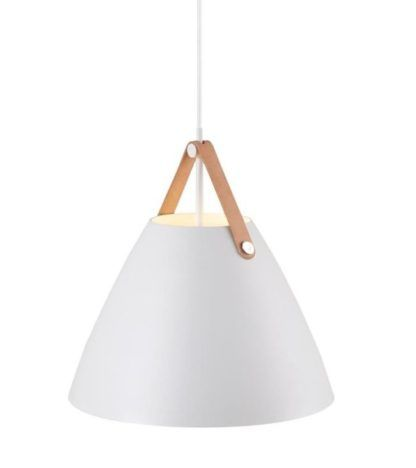 Biała lampa wisząca Strap 36 - DFTP - Nordlux - biały mat