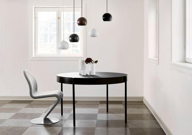 lampa wisząca kula, styl nowoczesny - aranżacja