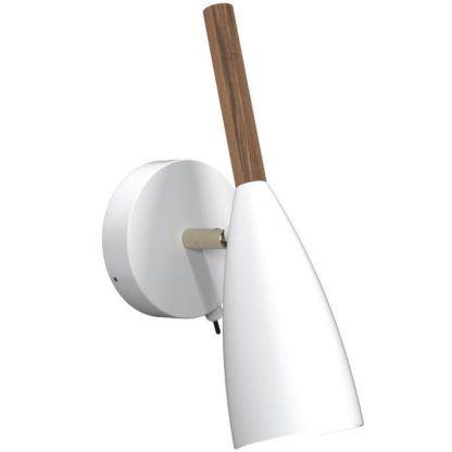 Biały kinkiet - Pure - DFTP - Nordlux - metal - styl scandi