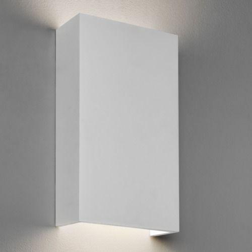 kinkiet gipsowy, dekoracyjne światło, biały