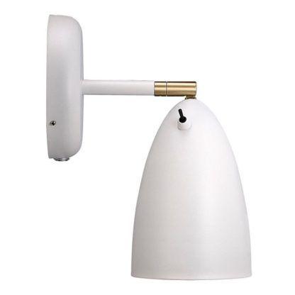 Biały, metalowy kinkiet Nexus - DFTP - Nordlux - scandi