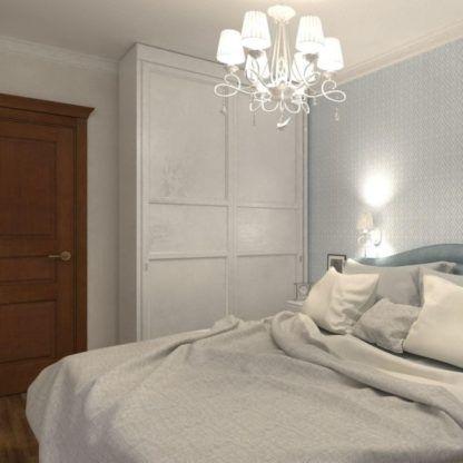 żyrandol z małymi abażurami do sypialni - biały