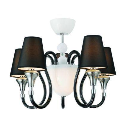 Lampa wisząca - Chandelier - Zuma Line - biel i czerń