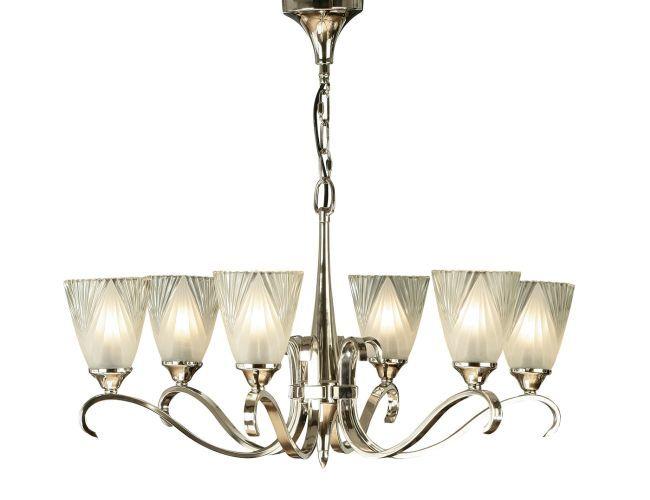 Elegancki żyrandol Columbia - Interiors - srebrny