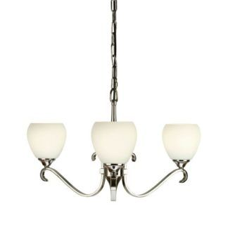 Żyrandol Columbia - Interiors - mleczne szkło - srebrny