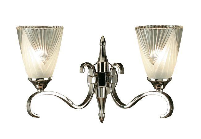 Stylowa lampa ścienna Columbia - Interiors - metal, szkło