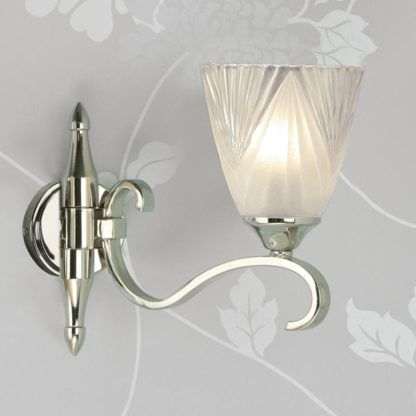 Subtelna lampa ścienna Columbia - Interiors - srebrna