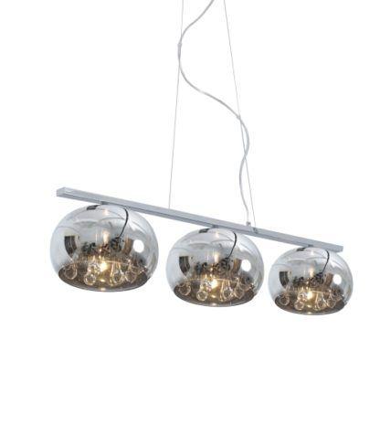 Lampa wisząca - Crystal II 3 - Zuma Line - szkło, kryształki
