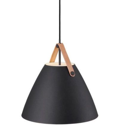 Czarna lampa wisząca Strap 36 -DFTP - Nordlux - mat