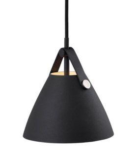 Czarna lampa wisząca  - Strap 16 - DFTP - Nordlux - metalowa
