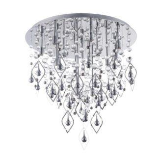 Dekoracyjna lampa sufitowa Lago - Maytoni - srebrna