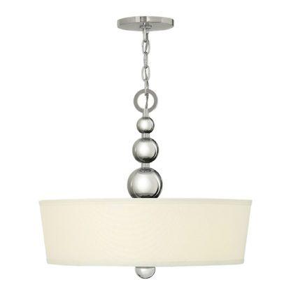 Dekoracyjna lampa wisząca Lucy srebrna