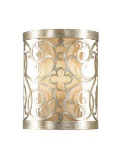 Dekoracyjny kinkiet Motif - Ardant Decor - srebrny