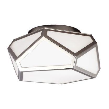 Dekoracyjny plafon Diamond szklany nikiel