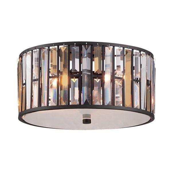 Dekoracyjny plafon z kryształkami - Opal - ciemny brąz