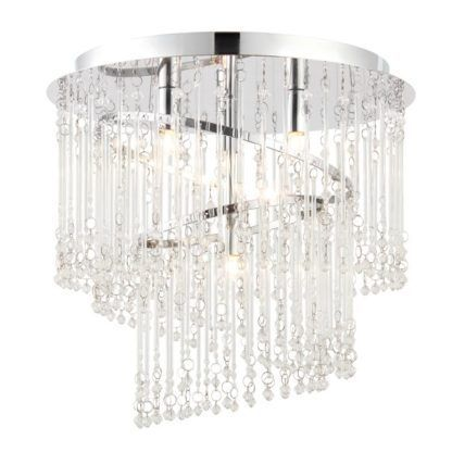 Dekoracyjny żyrandol Camille - Endon Lighting - chrom, szkło