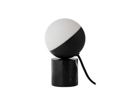 Designerska lampa stołowa Fabian Mini - czarna marmurowa - Frandsen