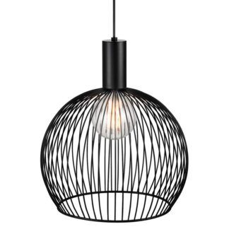Designerska lampa wisząca Aver 40 - DFTP - Nordlux - czarna