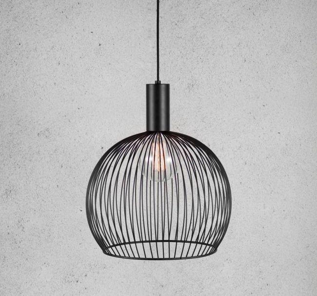 Designerska Lampa Wisząca Aver 40 Dftp Nordlux Czarna