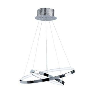Designerska lampa wisząca Kline 2 - Endon Lighting - chrom