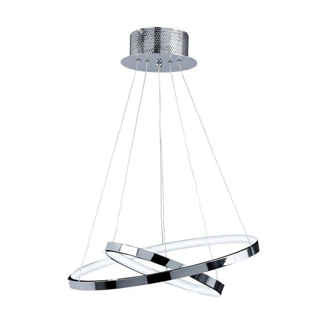 Designerska lampa wisząca Kline 2 - Endon Lighting - chrom